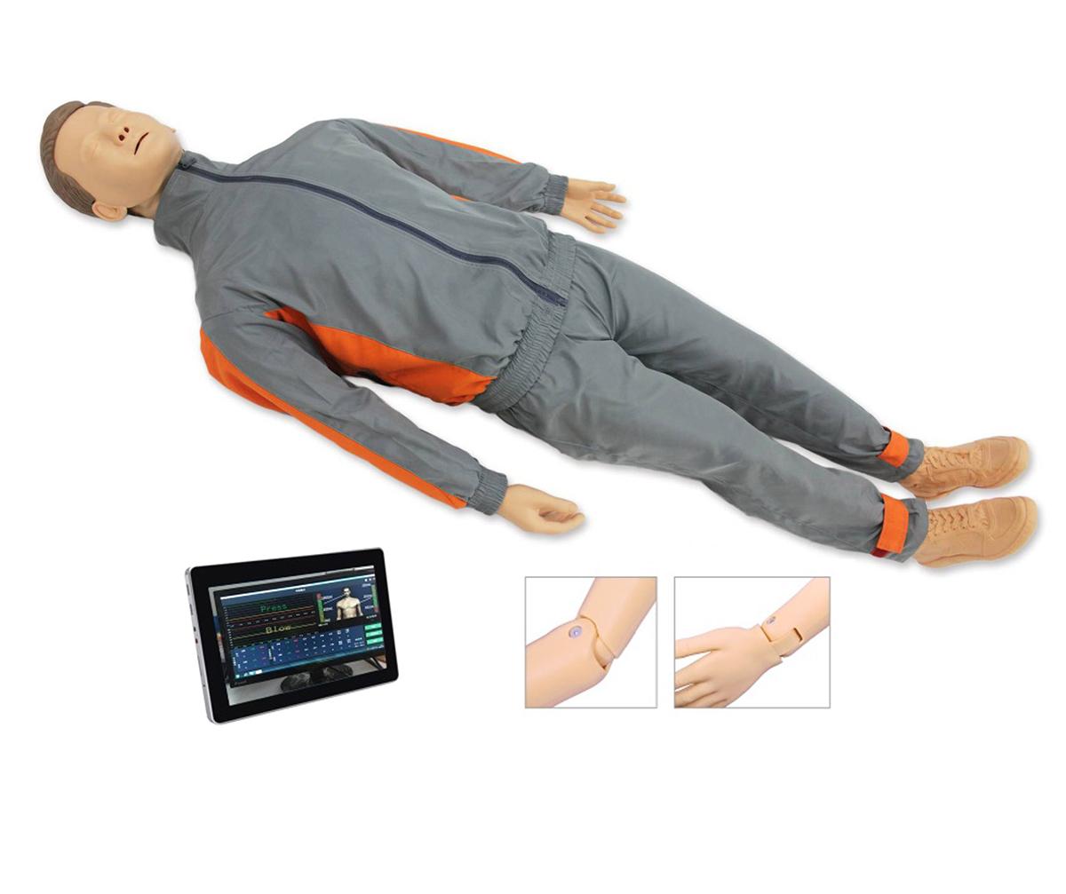 CPR550高级平板电脑心肺复苏模拟人(无线版)