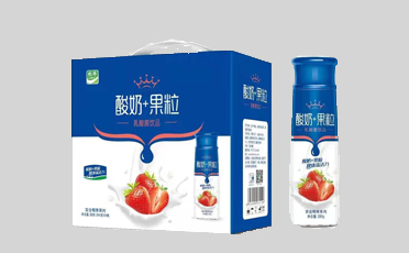 酸奶果粒--箱子、瓶